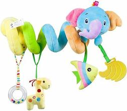 Caterbee Car Seat Toys, Baby Activity Spiral Plush Stroller