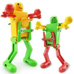 Cheerful Clockwork Wind Up Dancing Robot Toy For Baby Kids D