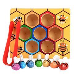 Children Preschool Wooden Bee Clip Out Montessori Educationa