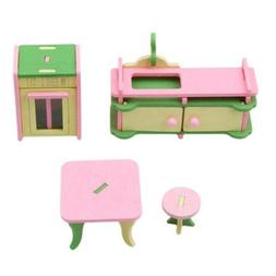 Children'S Play House Toys Wooden Furniture Modeling Buildin
