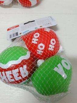Christmas Infantino Go Gaga Squeeze Squeak Ornaments  3 Pack