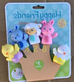Clearance - Magic Years Happy Friends Finger Puppets 5 Piece