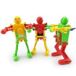 Clockwork Wind Up Dancing Robot Toy for Baby Kids Developmen