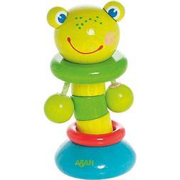 HABA Clutching Toy Clatter Frog Wooden Rattling Figure