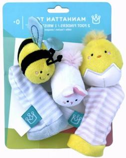Manhattan Toy Co. Baby Wrist Rattle and Foot Finders Set - A
