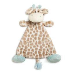 DEMDACO Colby Giraffe Sky Blue Children's Plush Rattle Blank