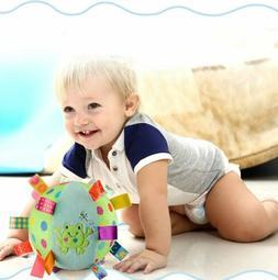Colorful Taggies Chime Ball-Soft Plush Sensory Rattle Toy Ba