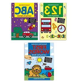 Coloring & Activity Book Set Kids-- 3 Books