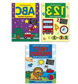 Coloring & Activity Book Set Kids-- 3 Books ABC, 123 and Fir