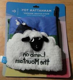 Manhattan Toy Company Lamb on the Mountain plush book, NEW,