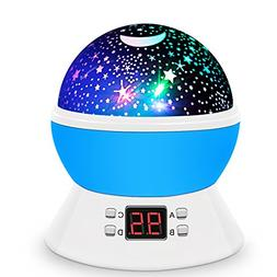 Constellation Night Light Baby Kids Room Moon Star LED Proje