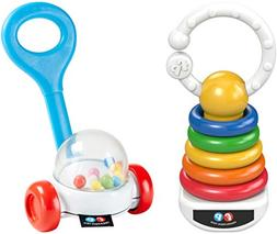 Fisher-Price  Corn Popper Rattle & Rock-A-Stack Clacker Set
