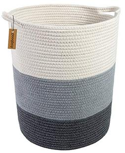 """Goodpick 18.8"""" x 17.7"""" x 13.8"""" Extra Large Cotton Rope Baske"""