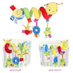 Crib Cot Pram Hanging Rattles Spiral Stroller&Car Seat Toy R