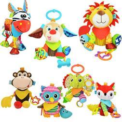 Cute Animal Stroller Crib Hanging Rattles Plush Toy Infant N