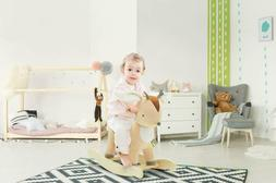 Cute Deer Rocking Horse Baby Toys Kids Ride On Plush Stuffed