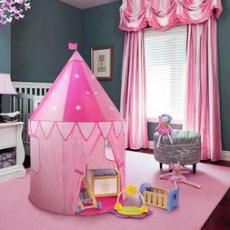 Cute Girls Playhouse Pink Princess Castle Kids Play Tent Chi