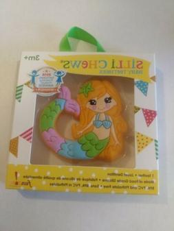 Silli Chews Cute Mermaid Baby Teether Soft Silicone Rubber T