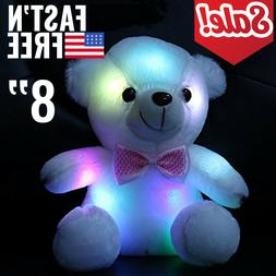 Cute Plush Toys For Girls Baby LED Light Up Stuffed Bear Kid