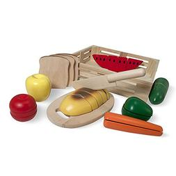 Cutting Food Box Wooden Pretend Play Toy -