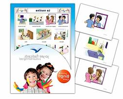 Daily Routines Flashcards in French Language - Flash Cards w