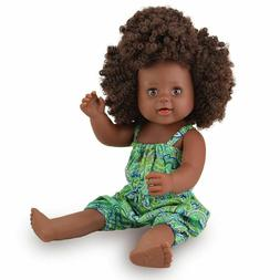 Dark Skin Baby Doll Black Girl Afro Hair Silicone Reborn Bab