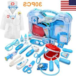DEERC 30PCS Toddler Kids Toy Medical Kit Doctor Dentist Pret