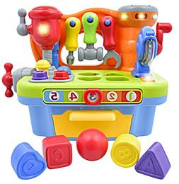 Deluxe Toy Workshop Playset for Kids with Interactive Sounds