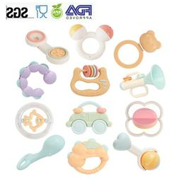 Development Baby Toys Cartoon Rattles Teether Bell Learning