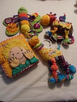 LAMAZE  DEVELOPMENTAL PLUSH BABY SENSORY BOOK TOYS LOT of 4