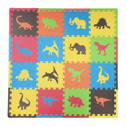 16 Piece Dino Playmat Set