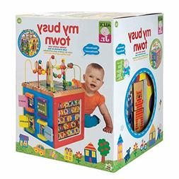 discover my busy town wooden activity cube
