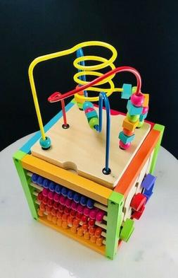 Discovery Box Wooden Activity Center 5 In 1 Multi Function E