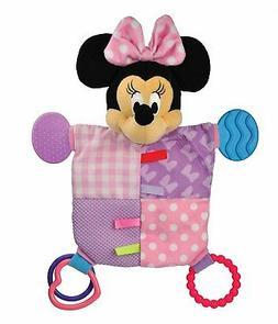 "Disney Baby Minnie Mouse Plush Teether Blanket, 12"""