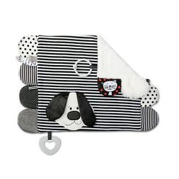 Dog Black and White 17 x 12 Polyester Fabric Baby Touch Feel