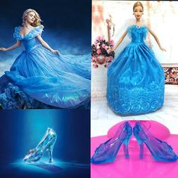 Doll Accessories Fairy Tale Dress Crystal Shoes Girls Christ