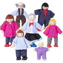 doll family wooden cloth dolls