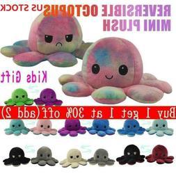 Double Sided Flip Reversible Octopus Plush Toy Marine Life S