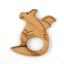 Dragon Baby Teether Wood Toy Teething Organic