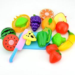Education Toys, Baby Toy, 1set/12pcs Fruit Vegetable Food To