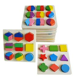 Educational Puzzle Sets Wooden Geometry Wood Toys For Baby K