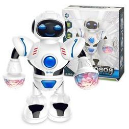 Electronic Robot Sing Dancing Walking Toys Lights Sound Toy