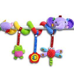 Elephant Cartoon Stroller Arch Rattles Hanging Cute Plush An