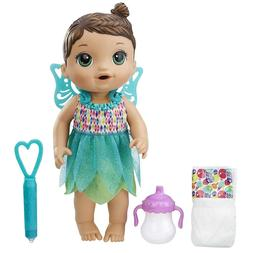 Baby Alive Face Paint Fairy Interactive Doll Brunette Real G