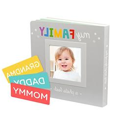 my family photo album keepsake board book style for baby and