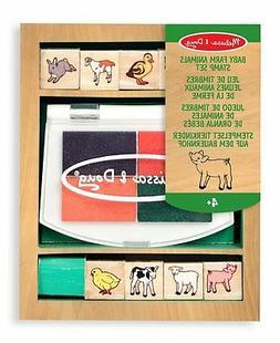 Baby Farm Animals Stamp Set Arts & Crafts Kit