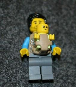 Father w/ Baby and Accessories ~ NEW City Lego Minifigure