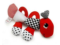 Baby's First Caterpillar Pal - Black, White & Red Teether To