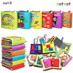 teytoy My First Soft Book, 6 PCS Nontoxic Fabric Baby Cloth