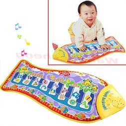 Fish Animal Music Mat Touch Kick Play Fun Baby Piano Toys fo